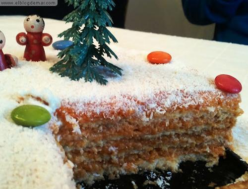 receta facil de tarta de galletas, zanahorias y coco